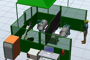 Роботизированный комплекс для торцовки пружин