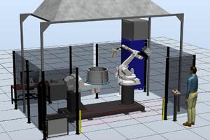 Роботизированный комплекс для сварки корпусов вентиляторов
