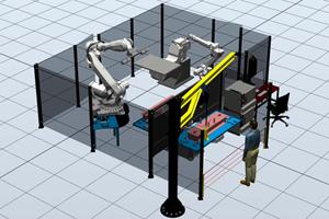 Роботизированный комплекс для сварки ростверков