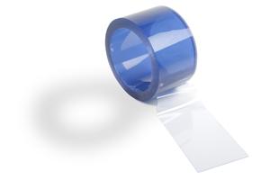 Прозрачные промышленные полосы 300 x 2 мм в рулоне 50 погонных метров