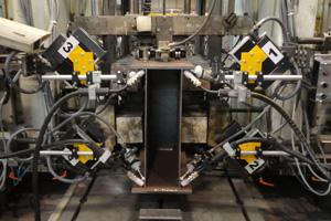 Портальная сварочная установка для сварки балок коробчатого сечения