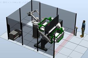 Роботизированный комплекс для сварки электрошкафов и ящиков