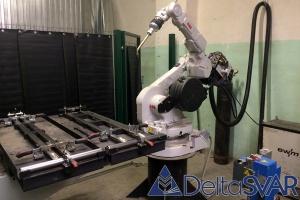 Роботизированный комплекс «ABB» для МИГ/МАГ сварки ног гладильных досок