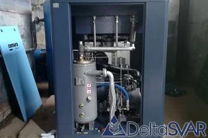 Винтовой компрессор COMARO мощностью 55 кВт, производительностью 8500 л/мин при давлении 10 бар