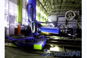 Автоматический центр сварки цилиндрических тел вращения плавящимся электродом в среде защитных газов и под слоем сыпучего флюса